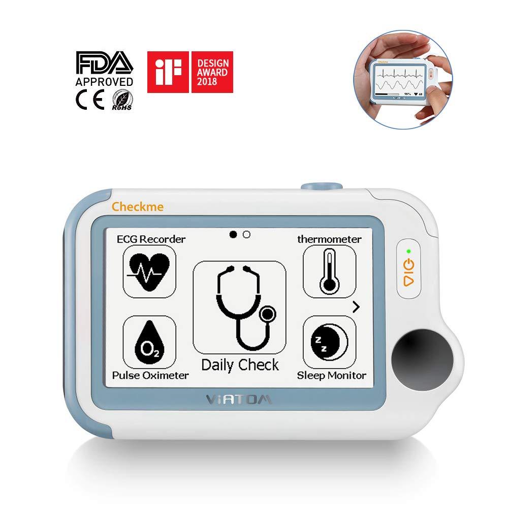 Checkme Pro Apnéia Do Sono Monitor de ECG Portátil, uso doméstico Vital Signs Monitor-Fda-EKG Holter, Freqüência Cardíaca