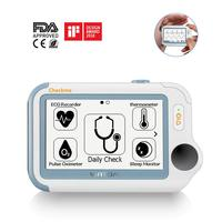 Checkme Pro Sleep Apnea Portable ECG Monitor, Home Use Vital Signs Monitor FDA Cleared EKG Holter Monitoring, Heart Rate