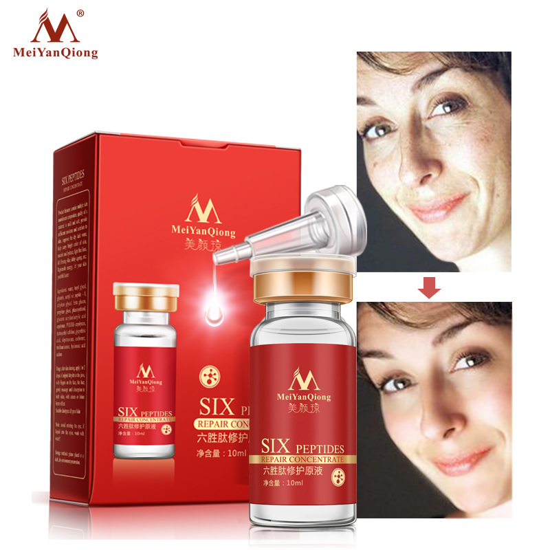 Six Peptides Pure Collagen Serum+Hyaluronic Acid Serum Anti-Aging Anti Wrinkle Moisturizer Face Skin Care Whitening Cream