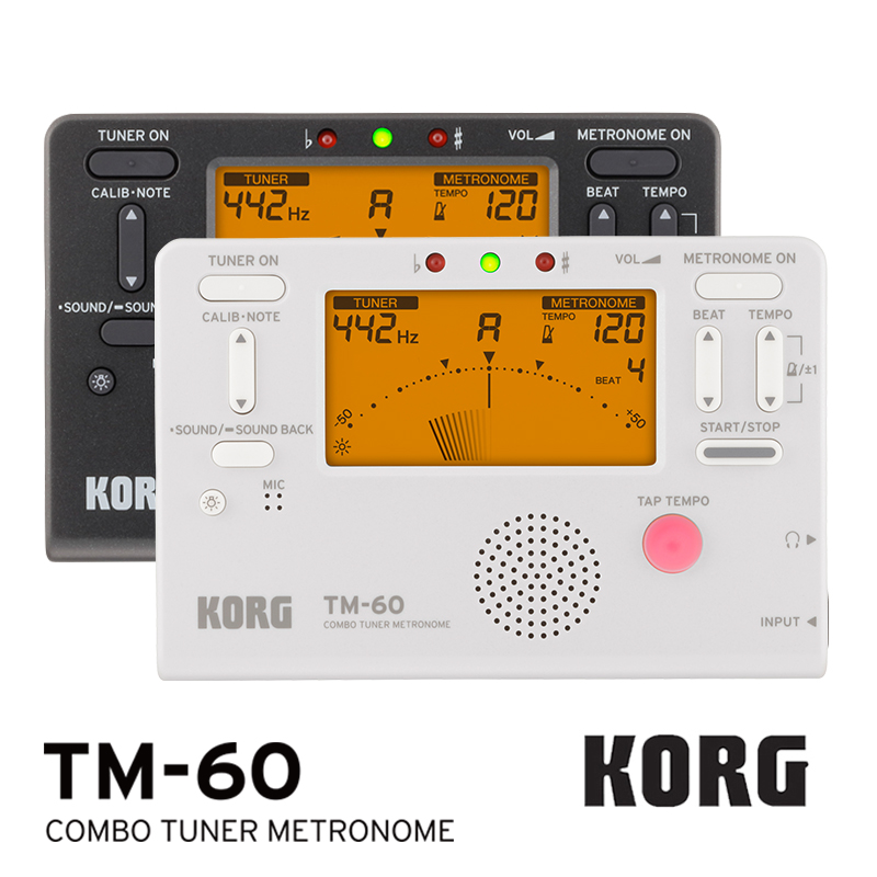 KORG TM60 TM60C Tuner Metronome Wind/ Guitar/ Ukulele/ Saxophone/ Violin/ Flute Tuner Universal Metronome (CM200 Can be choose) rowin 1 5 lcd tuner metronome tone generator black 2 x aaa