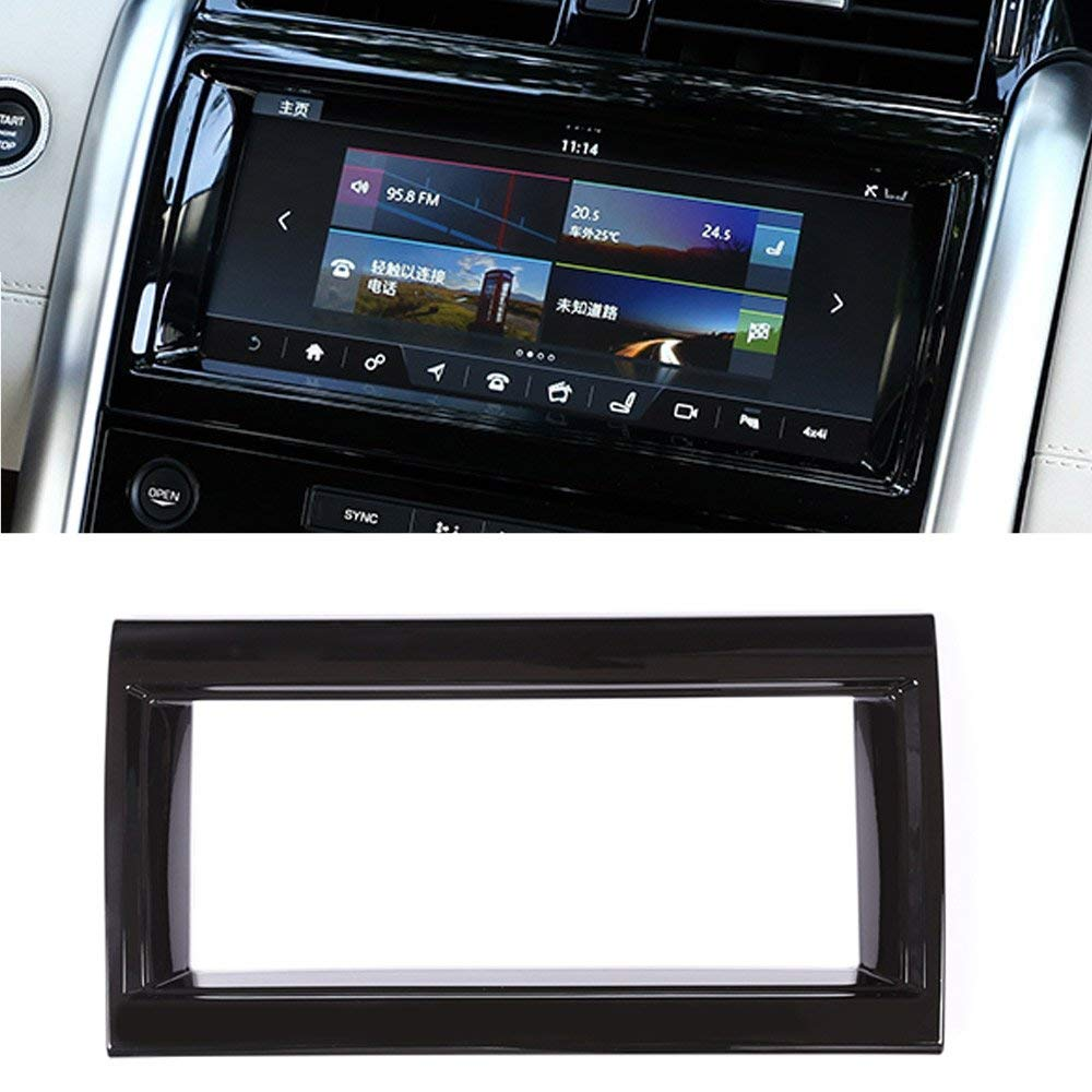 Back Glossy For Land rover Discovery 5 LR5 L462 2017 2018 ABS Chrome Interior Navigation box Frame Cover Trim Accessory inner car door moulding trim cover for land rover l462 discovery 5 2017 2018 4pcs