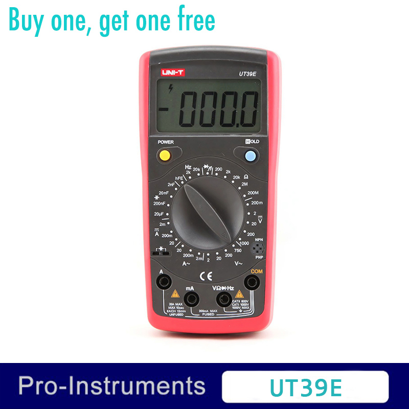 UNI-T UT39E Manual Range Digital Multimeters Volt Ampere Resistance Capacitance Frequency Meter uni t ut39e general manual range digital multimeters ut 39e transistor dc ac volt ampere resistance capacitance frequency meter
