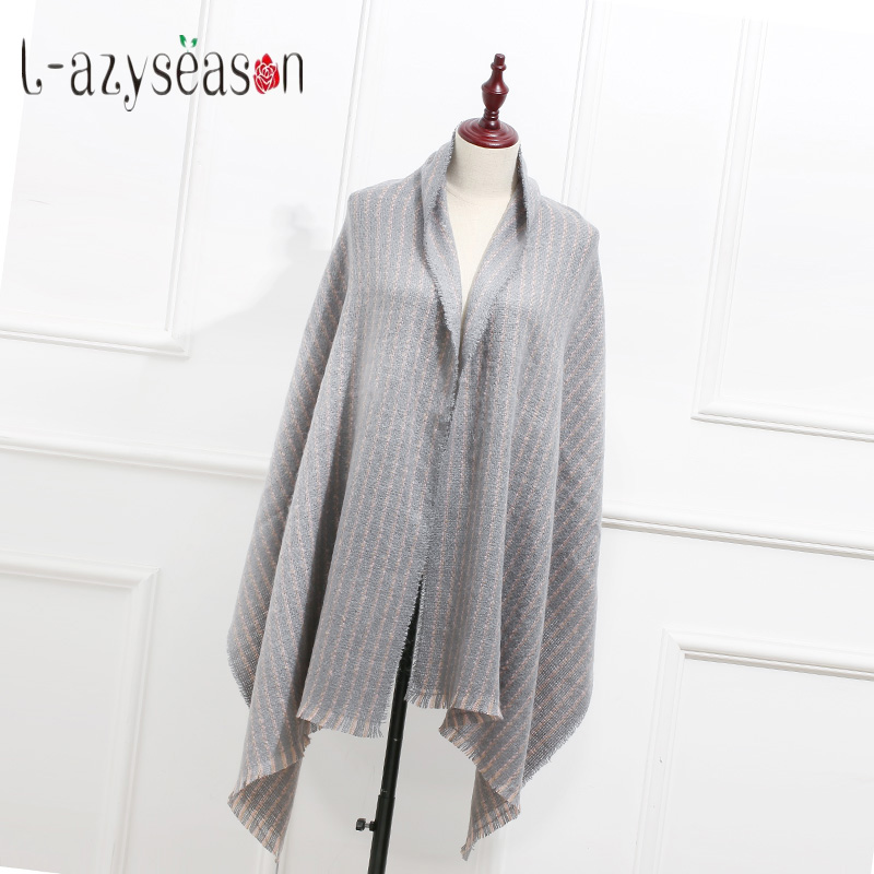 New Fashion Plaid   Scarf   women Cashmere warm Pashmina winter Shawl women's   Scarves     wraps   Long size 180X68 CM