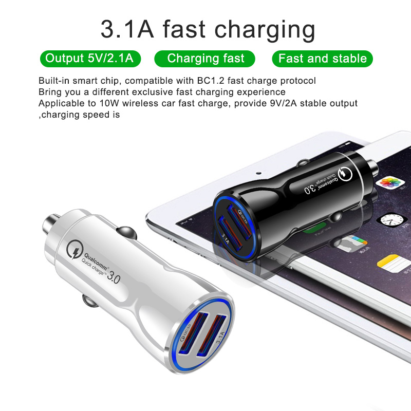 Olaf Car USB Charger Quick Charge 3.0 2.0 Mobile Phone Charger 2 Port USB Fast Car Charger for iPhone Samsung Tablet Car Charger-in Car Chargers from Cellphones & Telecommunications on Aliexpress.com | Alibaba Group 15