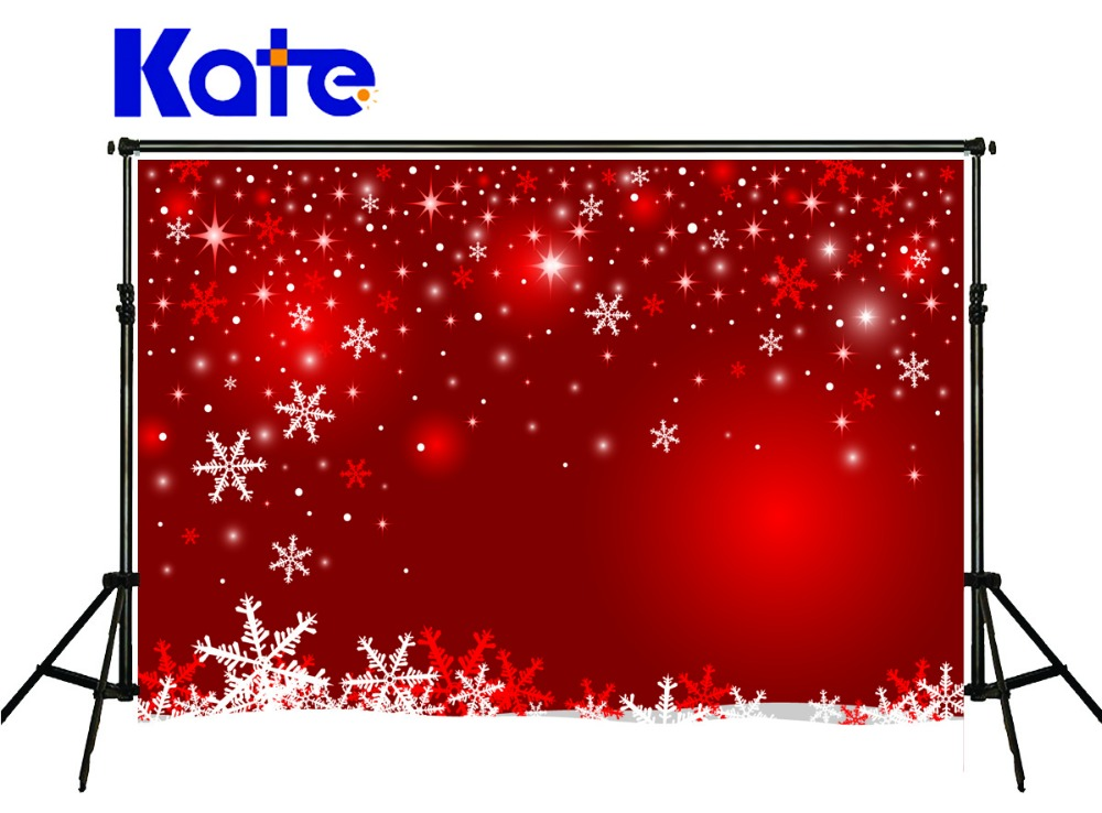 KATE Christmas Red Photography Backdrops Wrinkle Free Photography Backdrops Snow Spray Newborn Photography Background for Studio