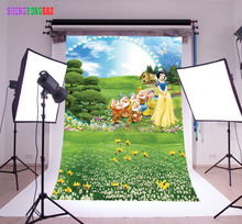 лучшая цена SHENGYONGBAO Vinyl  Photography Backdrops Props Snow White  Princess theme Digital Photo Studio Background NHSHD-10118