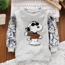 Children's Clothing New Autumn 2015 Boys And Girls Hoodies Covered With Cartoon Printed T Shirt Sweatshirt Kids Moletom 6 Color
