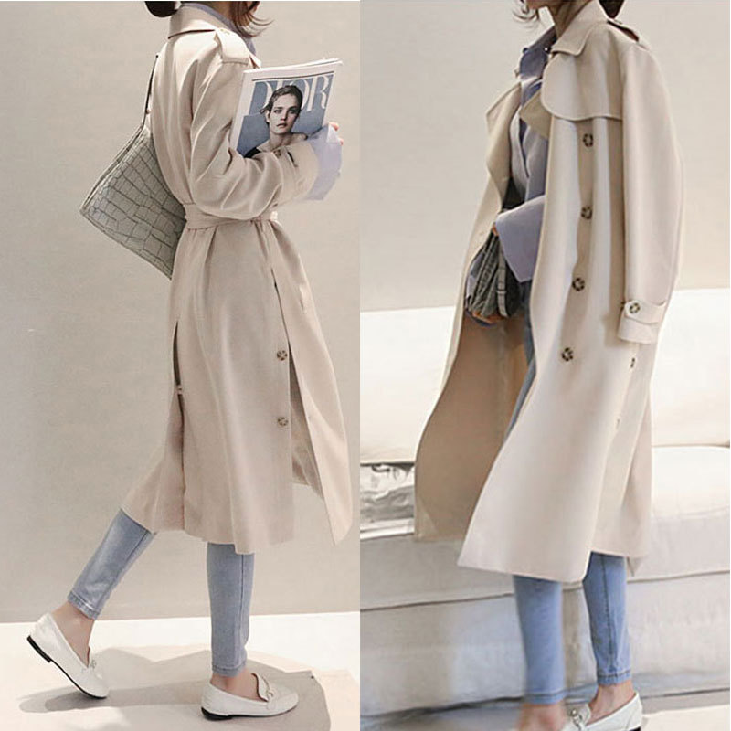 The spring and autumn period and the new women's 2018 double-breasted lady women's   trench   coat of cultivate one's morality