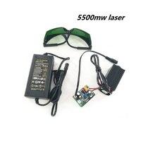 5500mw Laser Head for CNC3018 CNC2418 CNC1610 Engraving Machine Wood Router Carving Machine PCB Milling Machine