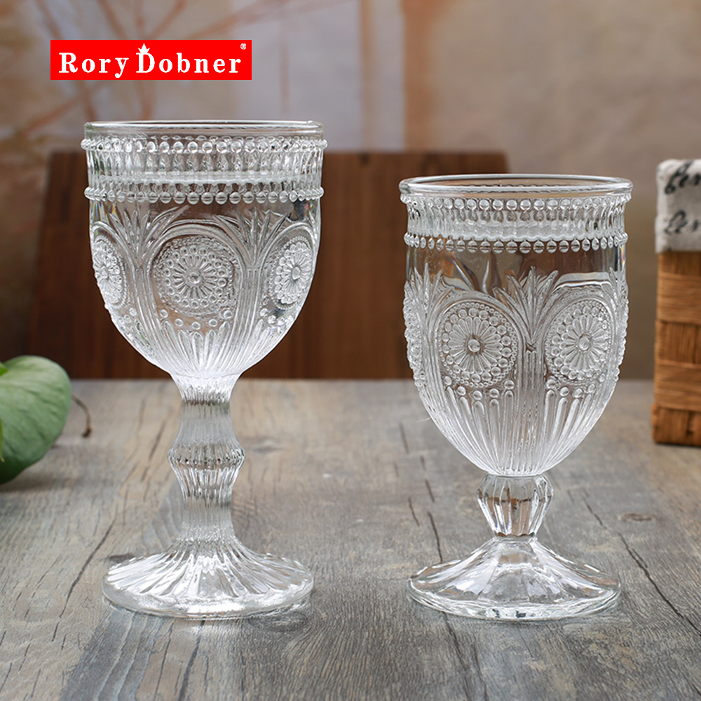Crystal Goblets European Lead Free Glass Embossed Wine Glasses Champagne Cup Cocktail Glass Crystal Beige Champagne Glass  G713 barriles de cedro cerveza