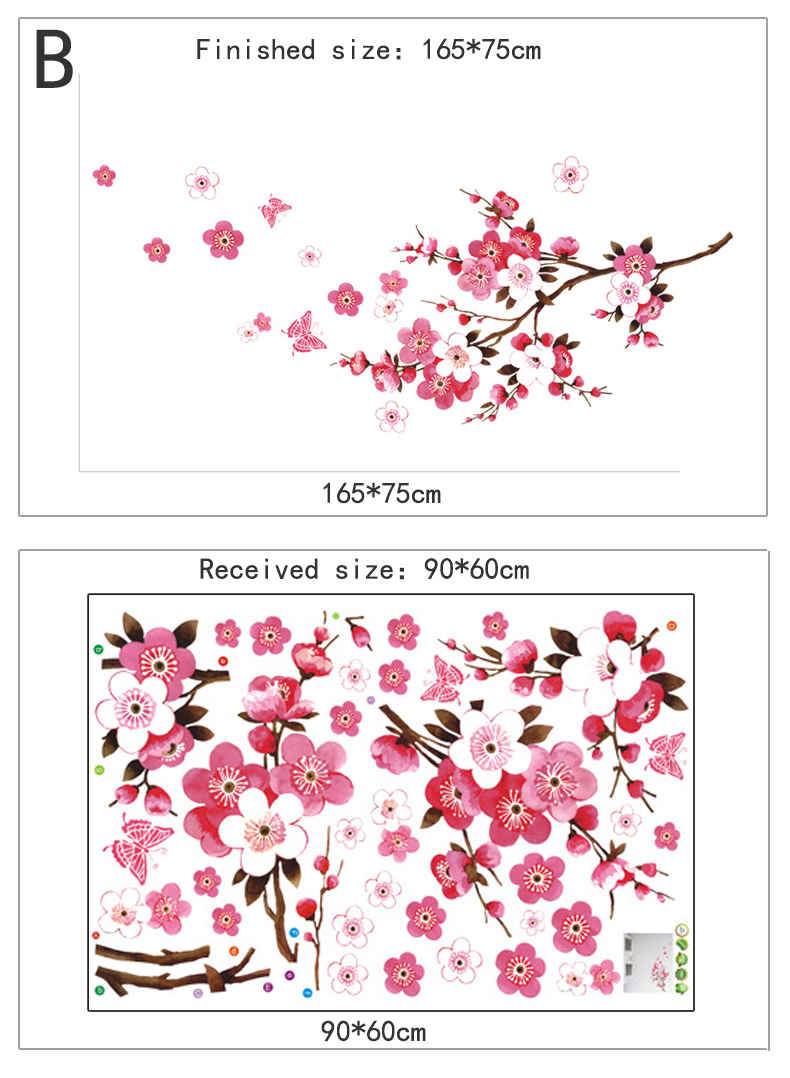 Beautiful Cherry Blossoms Wall Sticker For Living or Bed Room 24