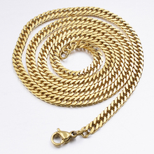 GOKADIMA женское ожерелье из нержавеющей стали золотого цвета для моды Рок, Панк ювелирные изделия оптом WN005