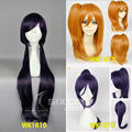 Free Shipping Full Lace Human Cosplay Wig Love Live! School Idol Project-Honoka Kousaka/Nozomi Tojo/Kanan Matsuura For Halloween