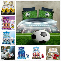 3D HD Activity Printing And Dyeing Football Cartoon Characters Flowers 4pcs 3pcs Duvet Cover Sets Soft