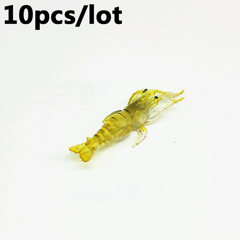 10pcs sabiki shrimp rigs glitter glow in the dark night for Glow in the dark fishing lures