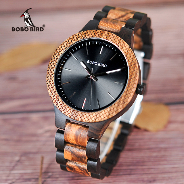 26ba6ea2 Бобо птица V-D30-1 дерево часы для мужчин кварцевые роскошные бизнес качество  китайских