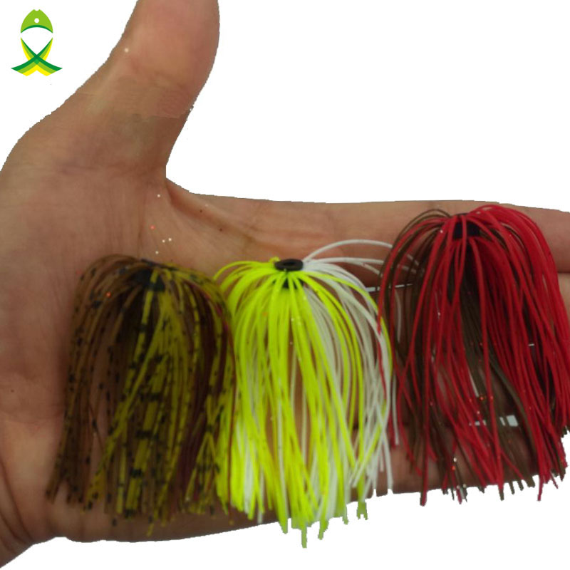 JSM 20 pcs/lot mixed Color Silicone Skirts for Spinnerbait Jigging Lures Fly Tying lifelike fishing lures мозаика elada mosaic jsm ch1023 327x327x4мм серая полосатая