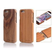 2016 New Handmade Geniune Bamboo Wood Wooden Hard Back Phone Case Cover for Apple iPhone 7 6/6s 4.7 Inch Free Shipping