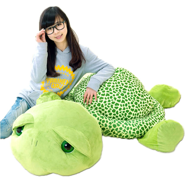 Fancytrader 59'' / 150cm Cute Stuffed Soft Giant Plush Tortoise Turtle Toy, Great Christmas Gift and Decoration Toys FT90552