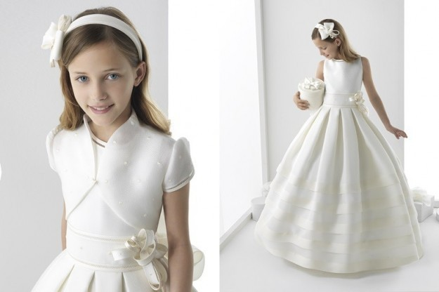 White First Holy Communion   Dresses   Elegant   Flower     Girl     Dress   2015 High Fashion Ritzee   Girl   Pageant   Dresses   Vestido De Daminha