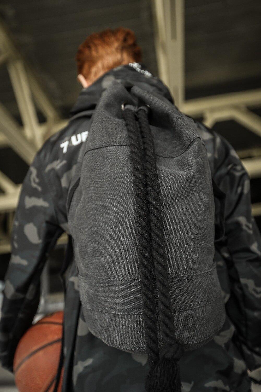 Likros Canvas Shoulder Bag Mens Backpack Korean Version Basketball Bag Leisure Sports Bag Gym bag LK814