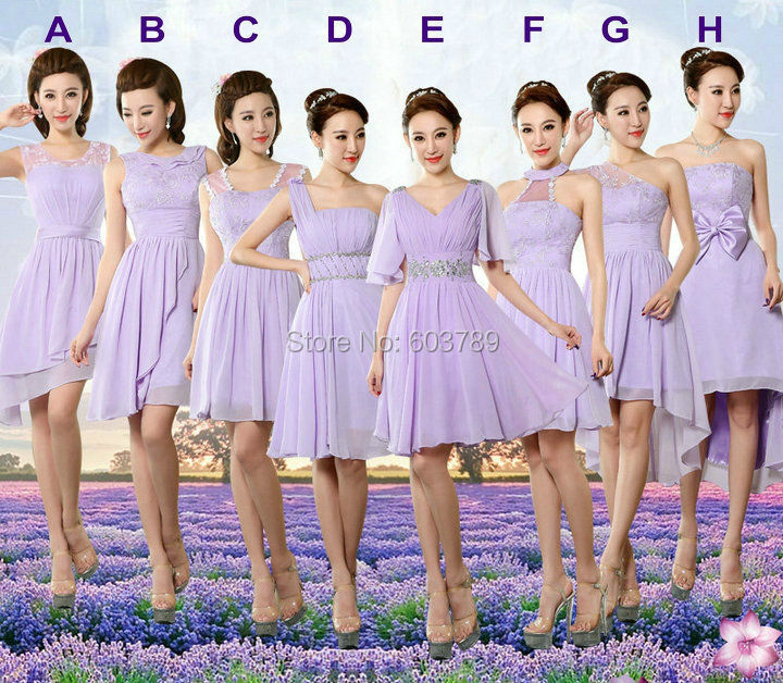 Purple Lace Bridesmaid Dresses