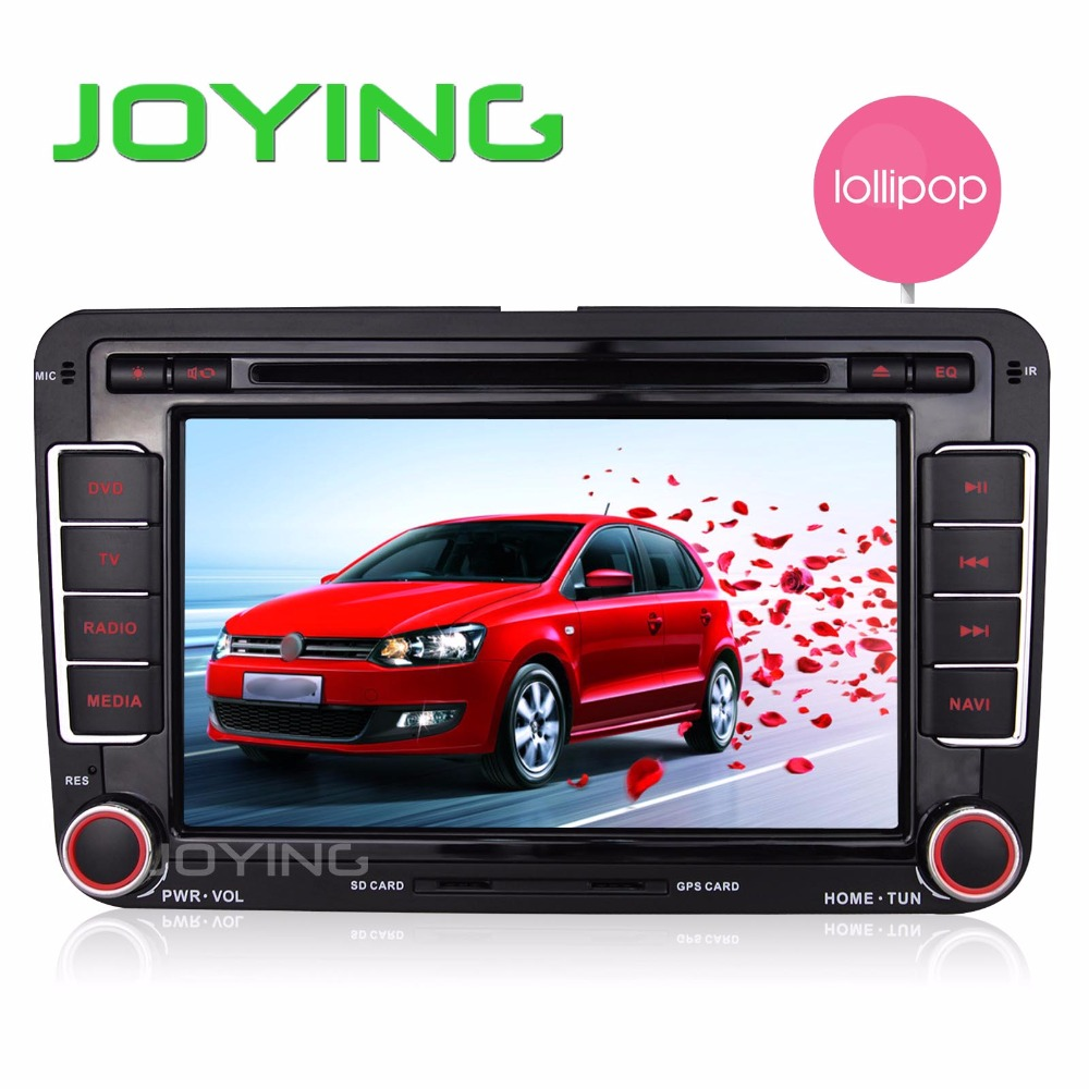 Joying 7inch Automotive Android 5.1 Lollipop Car Stereo Radio GPS Navigation For VW Golf Passat Jetta 8″ Quad Core Car Head Unit
