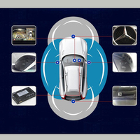 Птица обзора 360 градусов Панорама для Mercedes C GLE GLA CLA все круглый вида с Smart рекомендации автомобиль обращая помощи системы