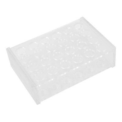 Clear 24 Holes Reversible Stand Holder Rack for 5ML Centrifuge TubeClear 24 Holes Reversible Stand Holder Rack for 5ML Centrifuge Tube