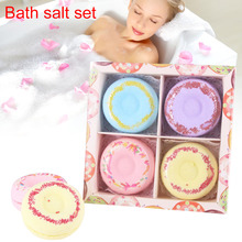 4pcs Bath Salt Donut Shape Set Spa Women Baby Skin Care Bomb Bath Salt Whitening Moisturize Relaxation Valentine's Day Gift FM88