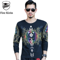 Fire Kirin Luxury Brand T-shirt 2017 New Arrival Slim Fit Mens 3D Tshirts Hip Hop Clothing Fashion Printed Tee Shirt Homme T464