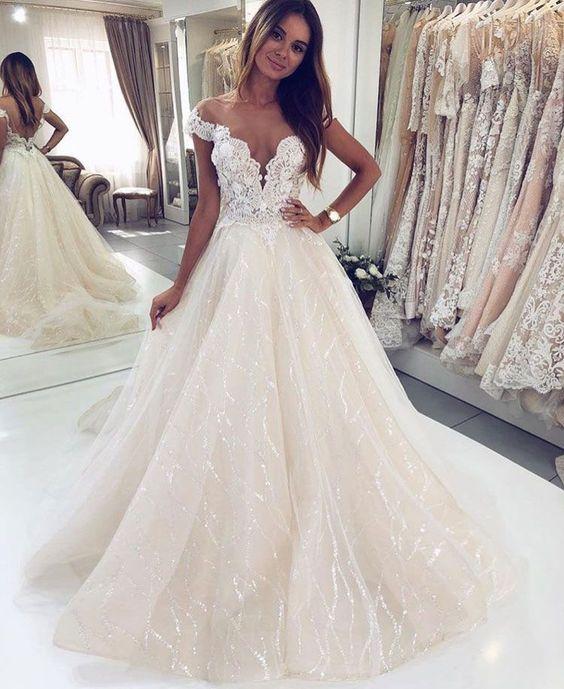 New Wedding Dresses 2020 New Amazing White Wedding Dress 2020 Sweetheart Chapel Train
