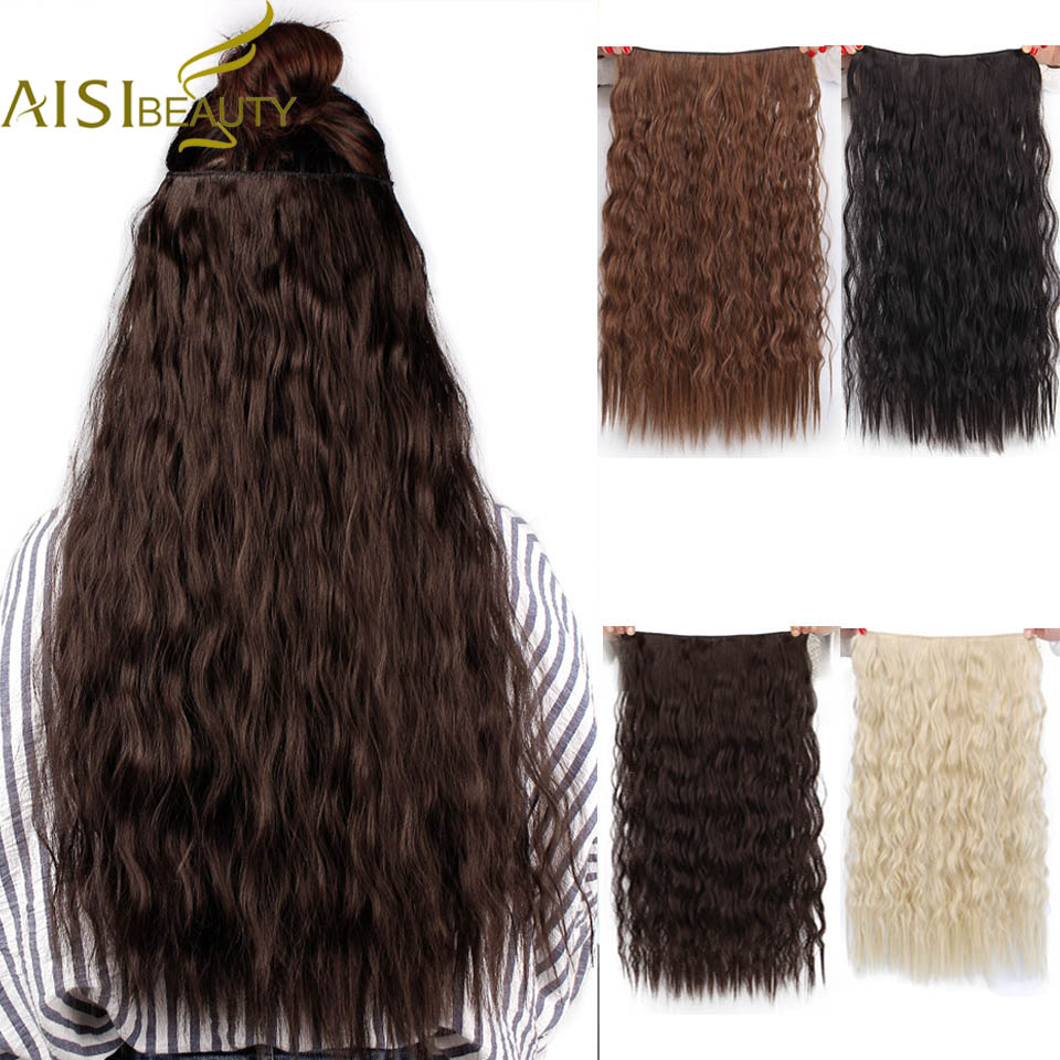 Hot Sale Aisi Beauty Long Clips In Hair Extension Synthetic Natural