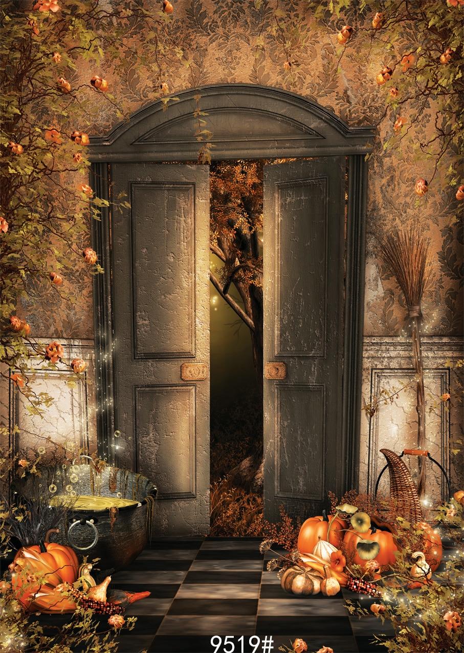 Night pumpkin  photography backdrop  Halloween pumpkin backgdrop150x210cm  Photo background Fond studio photo vinyle  цена и фото