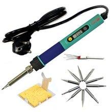 Ес разъем CXG 936d цифровой жк-регулируемая температура электрический паяльник 220 В 60 Вт + tip10pcs + керамический нагреватель