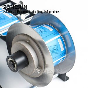Image 4 - ZONESUN Manual Round Labeling Machine With Handle Bottle Labeler Label Applicator Glass Metal Bottle