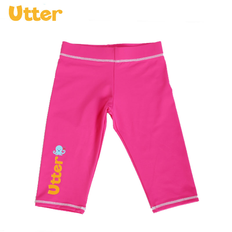 UTTER Baby Kids Cartoon Sun Protection Shorts Pants Rash Guard Maillot Swimsuit Swimwear for Girl and Boy Swimming Clothing in Two Piece Separates from Sports Entertainment