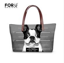 Schöne Französisch Bulldog Frauen Handtasche Lässig Umhängetaschen Luxus Designer Dame Messenger Top griff Taschen Tote Taschen Reisetasche