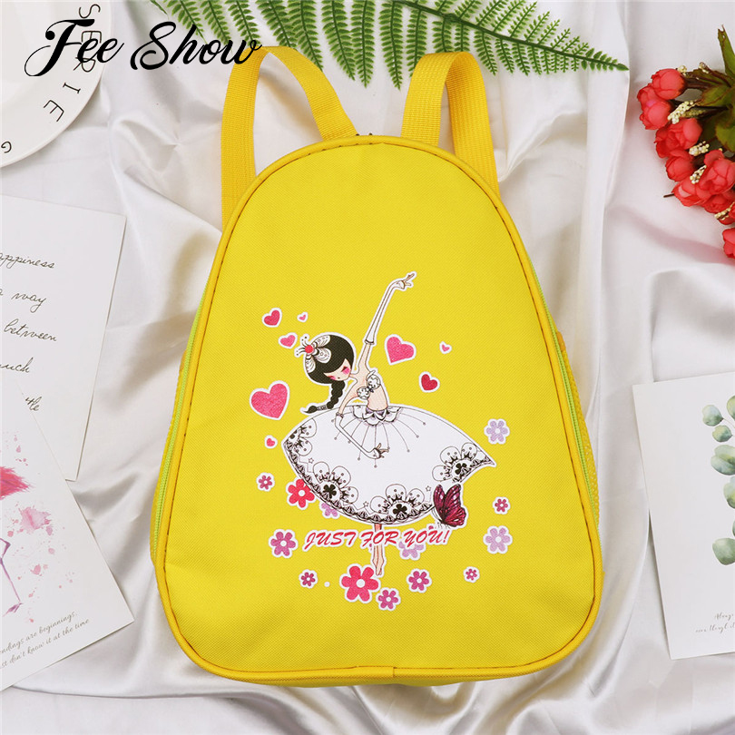 Kids Girls Fashion Ballet Dance Bag Students School Backpack Lovely Dancing Girl and Floral Print Ballerina Shoulder Ballet Bag