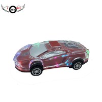 Free Shipping Bluetooth Speaker Car Styling LED Flash Wireless Speaker Support U disk TF Card with Bright Color Fine Workmanship