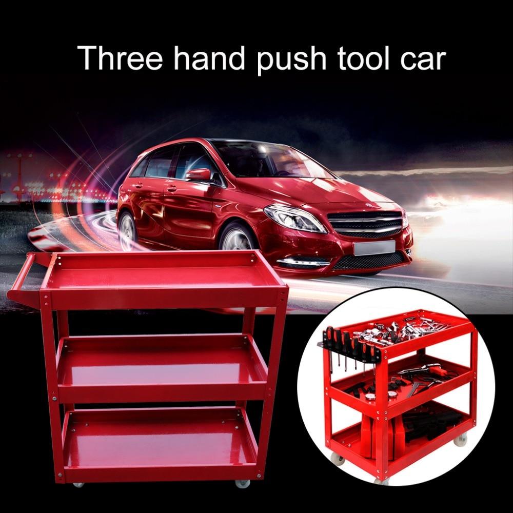 High Performance 3 Tiers Home Garage Workshop Trolley Transport Tool Cart DIY Storage Wheel Cart Trolley
