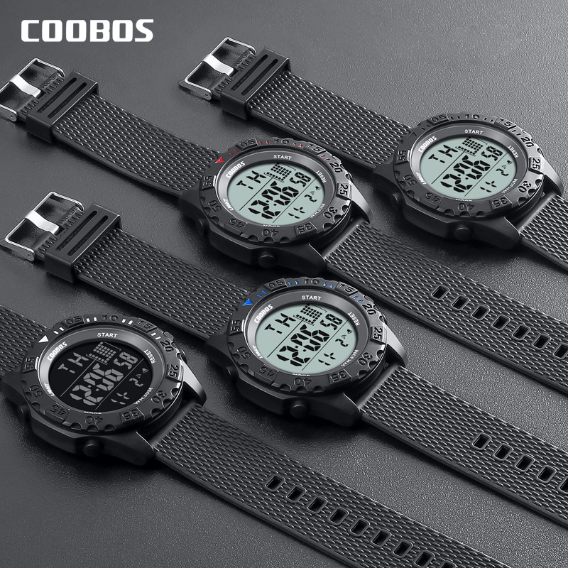 Digital Watch Sports Alarm-Clock Military Waterproof Electronic Men Luxury Black Week