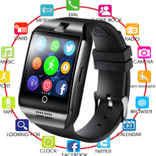 2019 QUNIWO Bluetooth Smart Watch Men Q18 With Touch Screen Big Battery Support TF Sim Card