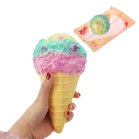 Portable Kiibru For Squishy Rainbow Big Ice Cream 18 5cm Slow Rising With Packaging Collection Gift