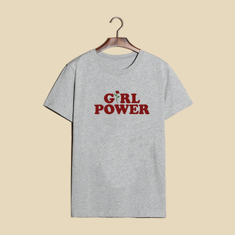 """Kvaliteetsed """"Girl power"""" T-särgid puuvillast"""