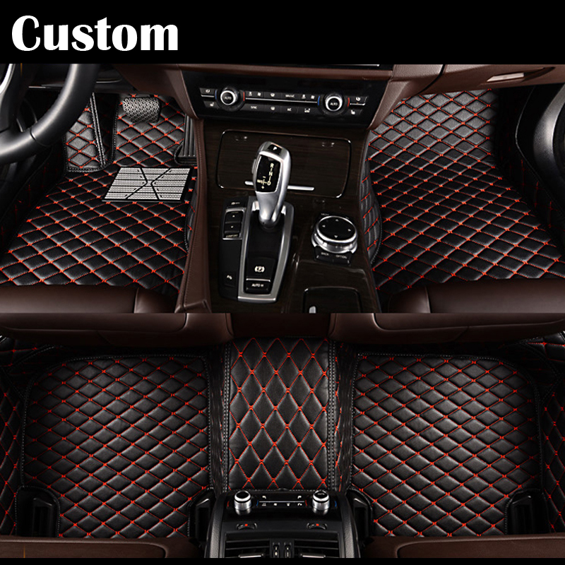 Custom fit car floor mats for Toyota Land Cruiser 200 Prado 150 120 Rav4 Corolla Avalon Highlander Camry GOOD QUALITY custom car floor mats for toyota land cruiser prado 150 fit most cars leather carpet mats protect interior four seasons car mats