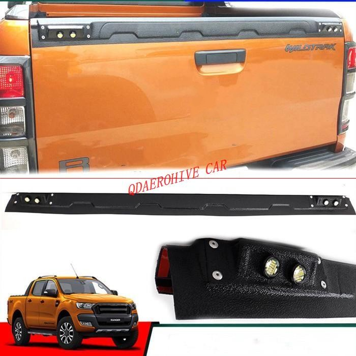 QDAEROHIVE Tail Gate Truck Trim Tailgate Truck Sill Cover For Ford Ranger T6 T7 2012-2017 +