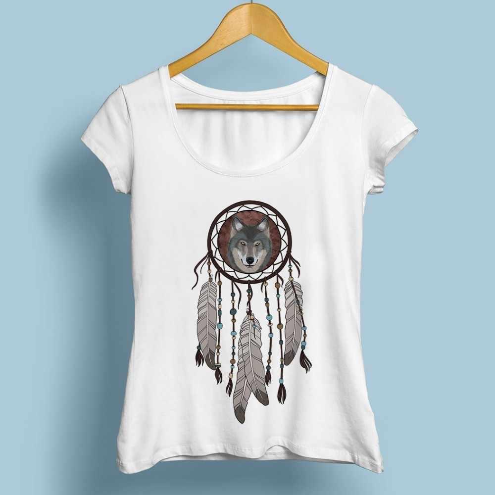לוכד חלומות חמוד חולצת טי נשים 2019 קיץ חדש לבן מקרית creative kawaii פאטאל החולצה לא דבק הדפסה