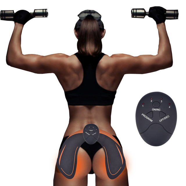 EMS Hip Trainer Muscle Stimulator ABS Fitness Buttocks Butt Lifting Buttock Toner Trainer Slimming Massager Unisex -  - health-care