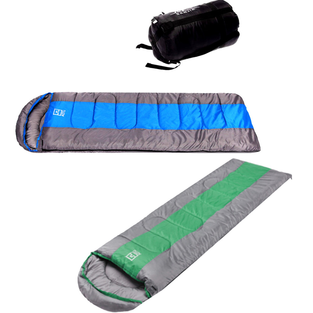 2016 High Quality outdoor Winter Adult Sleep Sleeping Bag 0-18 Degree Camping Hiking blue / green